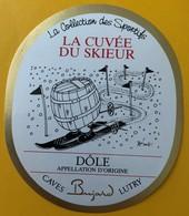 """10863 - La Cuvée Du Skieur Dôle Suisse Illustration Pécub """"La Collection Des Sportifs"""" - Andere"""