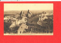 80 PERONNE Cpa Panorama Vers La Porte De Bretagne    4 CAP Picard - Peronne