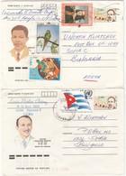 Cuba 1988/89 - Revolutionnaires - Deux Entiers Postaux De Cuba A Bulgaria - Cuba