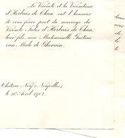 Mariage 1902 Gaetane Van Male De Ghorain & Jul D'Herbais De Thun Château Neuf Neufvilles Château Boschdam Beveren-Waas - Wedding