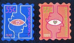 FETES DE FIN D'ANNEE 1997 - AUTO-ADHESIFS OBLITERES - YT 1609/10 - 1980-... (Beatrix)