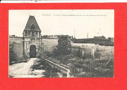 80 PERONNE Cpa La Porte Bretagne Extérieure    Edit Souillard - Peronne