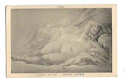 DESSIN DE FEMME NUE NYMPHE COUCHEE  FRANCOIS BOUCHER VIENNE - Peintures & Tableaux