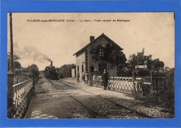 61 ORNE - VILLIERS SOUS MORTAGNE La Gare, Train Venant De Mortagne (voir Descriptif) - Francia