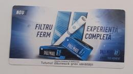 ROMANIA-CIGARETTES  CARD,NOT GOOD SHAPE,0.84 X 0.44 CM - Tabac (objets Liés)