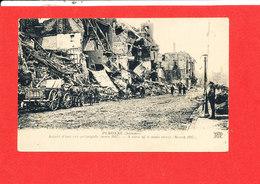80 PERONNE Cpa Animée Aspezct D ' Une Rue Principale En Mars 1917     Edit N D - Peronne