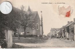 18 - Carte Postale Ancienne De PARASSY   La Grande Rue  ( état Moyen ) - France