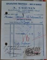 55 SAINT MIHIEL  A. CHENIN Exploitations Forestieres Timbre Fiscal - 1900 – 1949