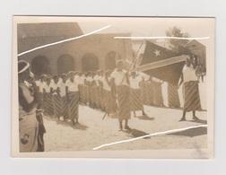 ECHTE FOTO BELGISCH KONGO MET VLAG BELGISCH CONGO (foto Werd Bewerkt Om Kopieren Tegen Te Gaan !) - Africa