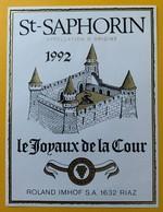 10872 -  St-Saphorin 1992 Les Joyaux De La Couronne Suisse - Andere