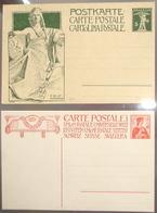 Schweiz Suisse 1909: INAUGURATION DU MONUMENT COMMEMORATIVE DE L'UPU (2 Sonder-PK 2 Entiers Commémoratives) - U.P.U.