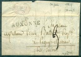 FRANCE MP AUXONNE (cote D'or ) 30.6.1817 (37 X 10.5 ) Sur LAT B / TB. - 1849-1876: Classic Period