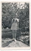 REAL PHOTO -  Cute Girl W Braids Long Hair,  Fillette  - Vintage Original - Altri