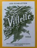 10873 -  Villette Les Echelettes 1992  Suisse Roland Et Pascal Dance Aran Petite étiquette - Andere