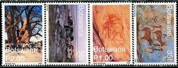 AW2497 Botswana 1999 World Heritage Prehistoric Mural 4V MNH - Arte