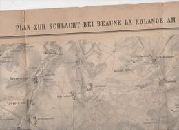 (guerre De 70) Beaune La Rolande (45 Loiret) Grande Carte Allemande Sur La Situation Miitaire Au 28 Nov 1970 (PPP11112) - Geographical Maps