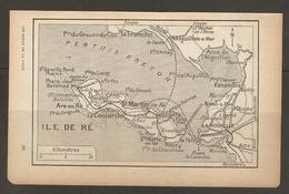 CARTE PLAN 1917 - ILE De RE - ARS En RE - PHARE Des BALEINES De LAVERDUN - ESNANDES NIEUL La COUARDE AYTRE - Carte Topografiche