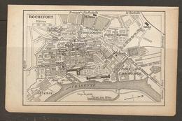 CARTE PLAN 1917 - ROCHEFORT ARSENAL FOSSE Aux MATS CORPS De GARDE PORT MILITAIRE PORT De COMMERCE - Cartes Topographiques
