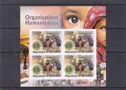 Organisations Humanitaires - Lions Club - Burundi - COB 1442 ** - NON Dentelé - Bloc De 4 - Valeur 37 Euros - Rotary, Lions Club