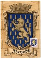 HERALDIQUE = 58 NEVERS 1962 = CARTE MAXIMUM + CACHET PREMIER JOUR N° 1354 ARMOIRIES - 1960-69