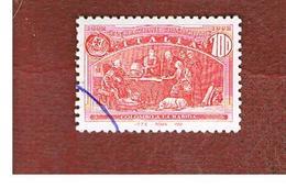 ITALIA REPUBBLICA  - UN. 2026  -  1992  GENOVA 92:  AMERICA DISCOVERY ( COLOMBO A LA RABIDA )  DA BF   - USATO - 6. 1946-.. Repubblica