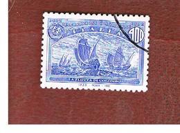 ITALIA REPUBBLICA  - UN. 2028  -  1992  GENOVA 92:  AMERICA DISCOVERY ( LA FLOTTA DI COLOMBO)  DA BF   - USATO - 6. 1946-.. Repubblica