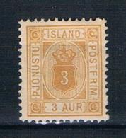Island 1882 Dienstmarke Mi.Nr. 3 B Ungebraucht - Dienstzegels