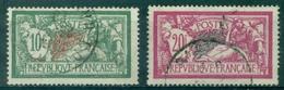 FRANCE MERSON N° 207 & 208 Oblitérés Cote: 57 €. - 1900-27 Merson