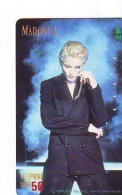 Télécarte Japon / 110-85716 - Musique - MADONNA  (48) Japan Music Star Phonecard - Musik Telefonkarte - Kino