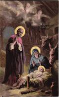 JOYEUX NOEL ,DECORS DE CRECHE ET ANGES  REF 60276 - Christmas