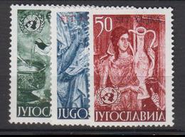 YOUGOSLAVIE   1953        N.  627 / 629     Cote   35,00   EUROS      ( W 3 ) - Neufs