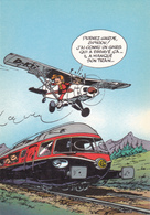 FRANQUIN  Ed Journal Spirou N°73 - Bande Dessinée Train Avion - CPM 10,5x15  TBE 1986  Neuve - Illustrators & Photographers