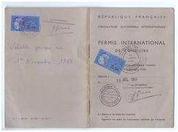 1965 - Permis De Conduire International - Timbres Fiscaux - FRANCO DE PORT - Non Classés