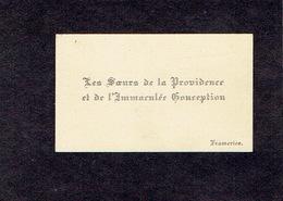 FRAMERIES 1900-1910  ANCIENNE CARTE DE VISITE - LES SOEURS DE LA PROVIDENCE ET DE L'IMMACULEE CONCEPTION - Visiting Cards