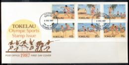 Tokelau 1987 Olympic Sports FDC - Tokelau