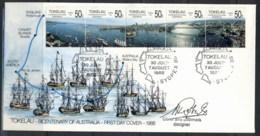 Tokelau 1988 Bicentenary Of Australia Signed Cover & Postmark DesignerFDC - Tokelau
