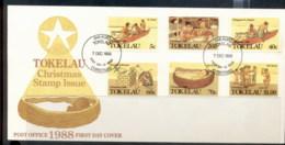 Tokelau 1988 Xmas FDC - Tokelau
