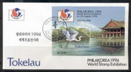 Tokelau 1994 White Heron Philakorea MS FDC - Tokelau