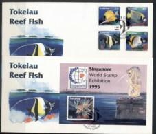 Tokelau 1995 Reef Fish 2x FDC - Tokelau