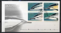 Tokelau 1996 Marine Life Dolphins FDC - Tokelau