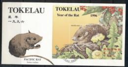Tokelau 1996 New Year Of The Rat MS FDC - Tokelau
