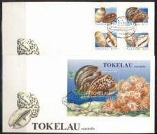 Tokelau 1996 Seashells 2x FDC - Tokelau