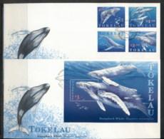 Tokelau 1997 Humpback Whale 2x FDc - Tokelau