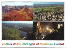 15 Plateaux Entre Dordogne Et Monts Du Cantal Cpm Multivues - Frankreich