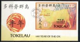 Tokelau 1997 New Year Of The Ox Hong Kong MS FDC - Tokelau