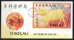 Tokelau 1997 New Year Of The Ox MS FDC - Tokelau