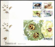Tokelau 1998 Beetles 2x FDC - Tokelau