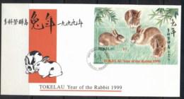 Tokelau 1999 New Year Of The Rabbit MS FDC - Tokelau