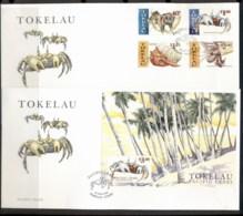 Tokelau 1999 Pacific Crabs 2xFDC - Tokelau