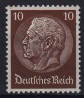 D. Reich 518 Y **, 10 (Pf) Hindenburg Mit Wz Y, Geprüft - Abarten